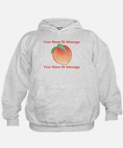 PERSONALIZED Peach Cute Hoodie