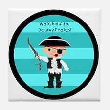 Little Pirate Tile Coaster