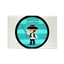 Little Pirate Rectangle Magnet