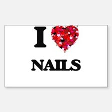 I Love Nails Decal