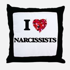 I Love Narcissists Throw Pillow