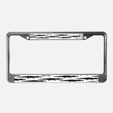 Black Caiman Pattern License Plate Frame
