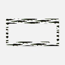 Black Caiman Pattern License Plate Holder
