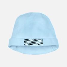 Black Caiman Pattern baby hat