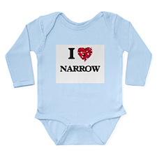 I Love Narrow Body Suit