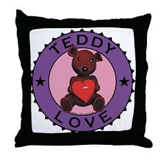 Teddy Bear Love Throw Pillow