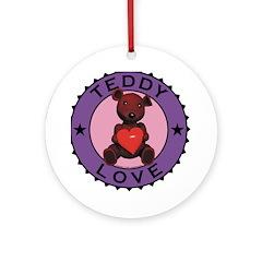 Teddy Bear Love Ornament (Round)