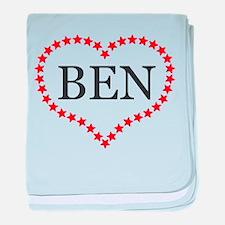 I Love Ben Carson baby blanket