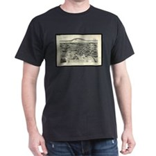 Vintage Pictorial Map of Edgartown MA (188 T-Shirt