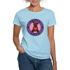 Women's Teddy Bear Love T-Shirt Light Colored