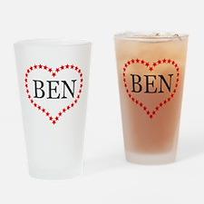 I Love Ben Carson Drinking Glass