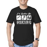 Id rather be hiking Fitted T-shirts (Dark)