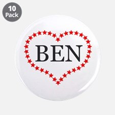 "I Love Ben Carson 3.5"" Button (10 pack)"