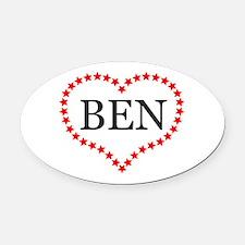 I Love Ben Carson Oval Car Magnet