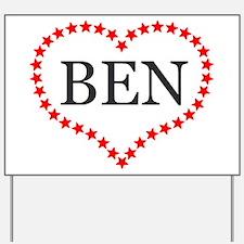 I Love Ben Carson Yard Sign