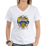 Lafeta Family Crest Women's V-Neck T-Shirt