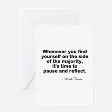 Pause And Reflect Greeting Cards
