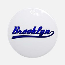 Brooklyn Comic Book Style Ornament (Round)