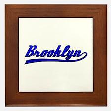 Brooklyn Comic Book Style Framed Tile