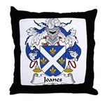 Joanes Family Crest Throw Pillow
