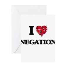 I Love Negation Greeting Cards