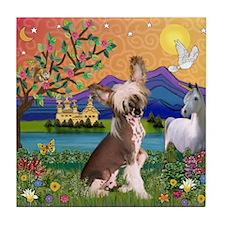 Chinese Crested Fantasyland Tile Coaster