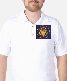 Gold Presidential Seal, VIP, The White T-Shirt