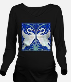 The Swans By Walter Long Sleeve Maternity T-Shirt