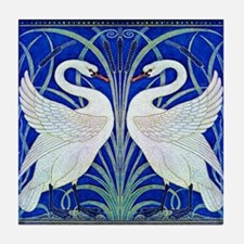 The Swans By Walter Crane Tile Coaster
