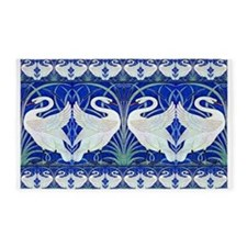 The Swans By Walter Crane Area Rug
