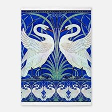 The Swans By Walter Crane 5'x7'Area Rug