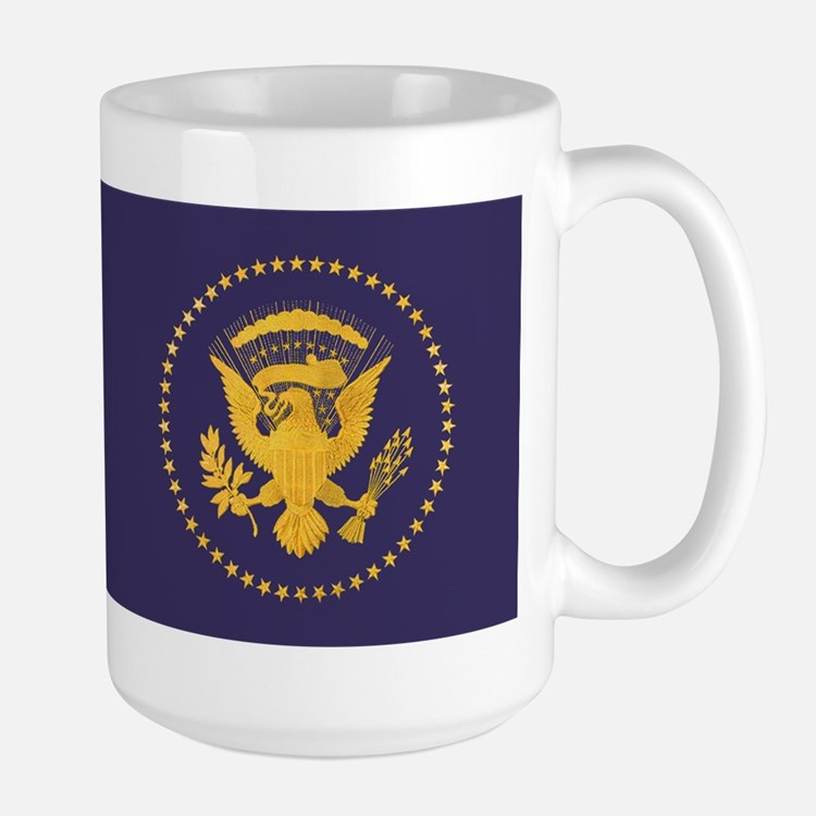 Gold Presidential Seal, VIP, The White Large Mug
