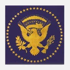 Gold Presidential Seal, VIP, The Whit Tile Coaster