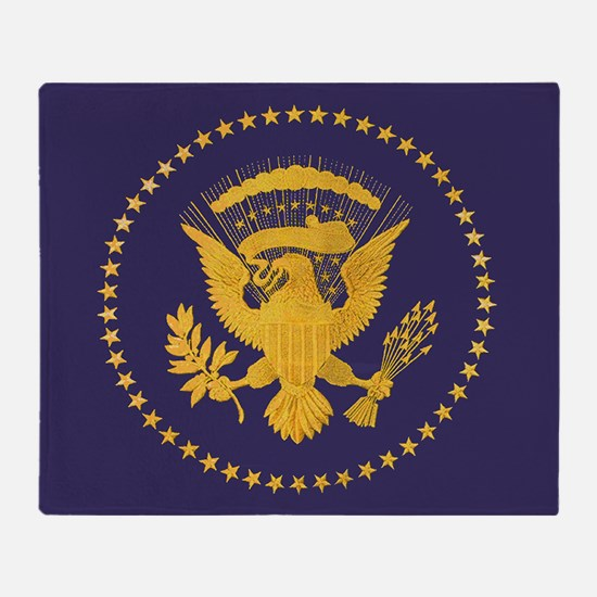 Gold Presidential Seal, VIP, The Whi Throw Blanket