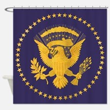 Gold Presidential Seal, VIP, The Wh Shower Curtain