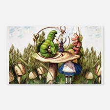 Alice Meets the Caterpillar in Wonderland Area Rug