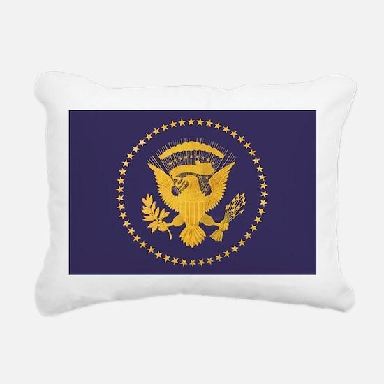 Gold Presidential Seal, Rectangular Canvas Pillow