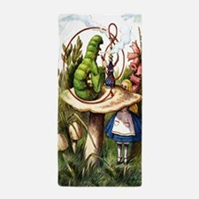 Alice Meets the Caterpillar in Wonderl Beach Towel