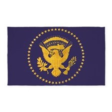 Gold Presidential Seal, VIP, The White Ho Area Rug