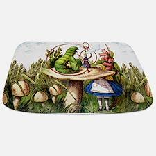 Alice Meets the Caterpillar in Wonderland Bathmat