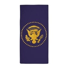 Gold Presidential Seal, VIP, The White Beach Towel