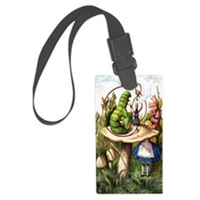 Alice Meets the Caterpillar in W Luggage Tag