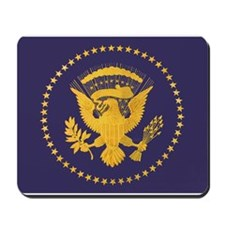 Gold Presidential Seal, VIP, The White H Mousepad