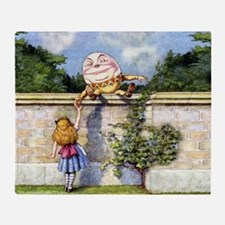 Humpty Dumpty and Alice in Wonderlan Throw Blanket