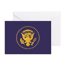 Gold Presidential Seal, Greeting Cards (Pk of 10)