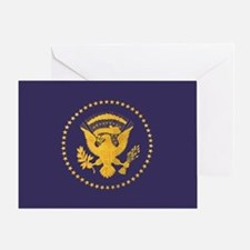 Gold Presidential Seal, VIP, The Whi Greeting Card