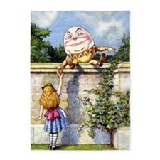 Humpty Dumpty and Alice in Wonderla 5'x7'Area Rug