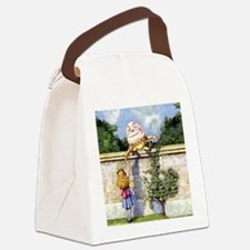 Humpty Dumpty and Alice in Wonder Canvas Lunch Bag