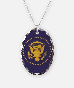 Gold Presidential Seal, VIP, T Necklace