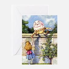 Humpty Dumpty and Alice in Wonderlan Greeting Card